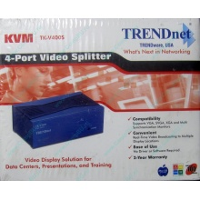 Видеосплиттер TRENDnet KVM TK-V400S (4-Port) в Батайске, разветвитель видеосигнала TRENDnet KVM TK-V400S (Батайск)